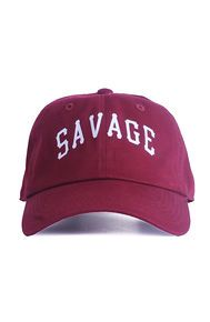Nerdy Fresh Savage unv. Dad hat burgundy