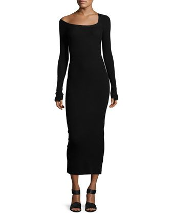 Brynn Long-Sleeve Sweater Dress, Black by A.L.C. at Neiman Marcus.