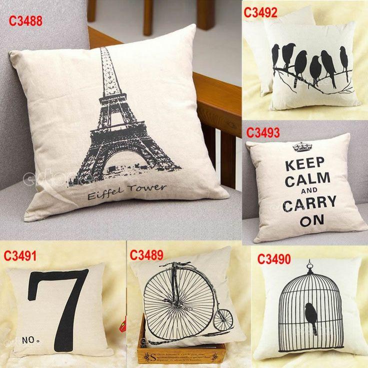 Marvelous Coussin Pas Cher Design #4: Pas Cher Livraison Gratuite Rétro Simple Draps En Coton Taie Du0027oreiller  Canapé Home Decor