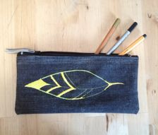 Embroidery pencil bags #pencil bags #pencil