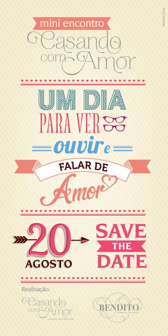 Save the Date: Mini encontro Casando com Amor