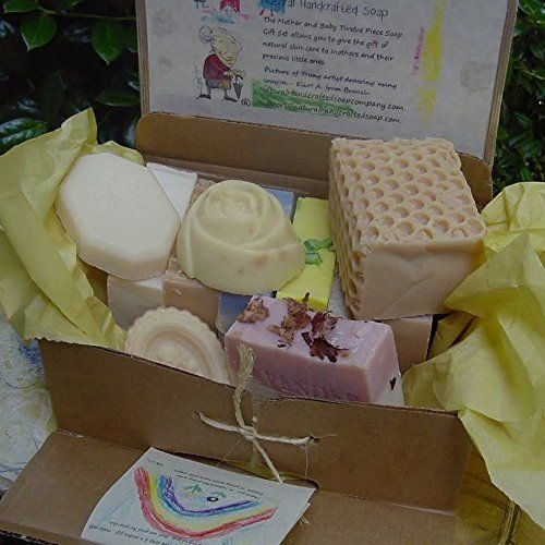Mom and Baby Twelve Piece #Soap #Gift Set -includes milk soaps butter, coconut and goat, oatmeal, olive oil and wonderfully scented soap for mom . Natural Handcrafted Soap LLC http://www.amazon.com/dp/B0039CRNRE/ref=cm_sw_r_pi_dp_Gtvoub0WNXH05