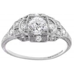 2D26 Art Deco Diamond Engagement Ring