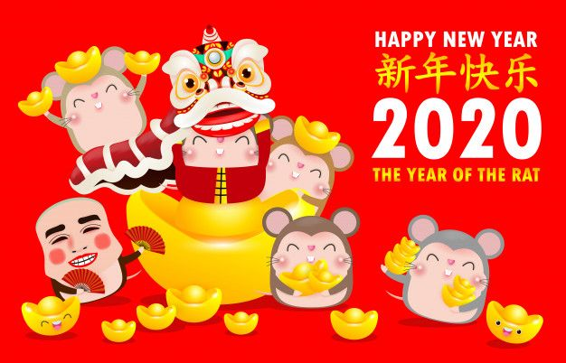 Happy Chinese New Year 2020 Of The Rat Zodiac Poster Design With Rat Chinese New Year Greeting Happy Chinese New Year Chinese New Year 2020