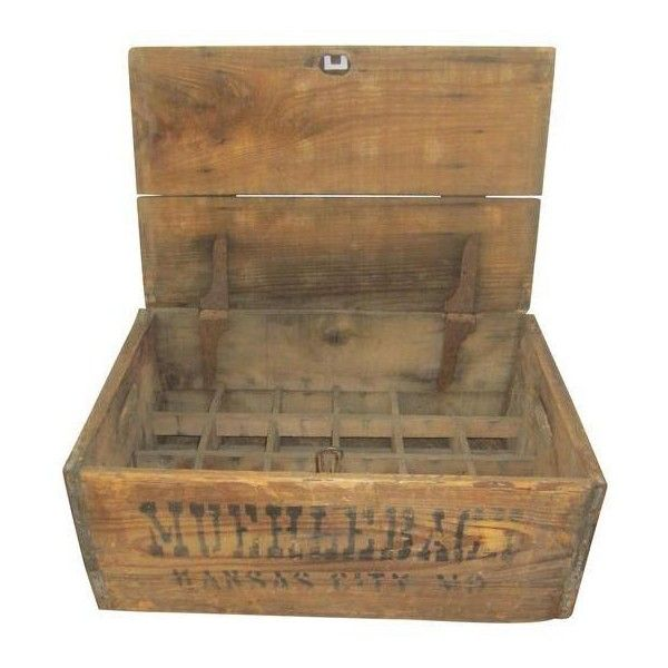 Vintage Wooden Brewery Beer Box Crate ($175) ❤ liked on Polyvore featuring home, home decor, small item storage, baskets, vintage beer bottles, wood sewing box, vintage wooden boxes, wooden box and vintage wooden crate