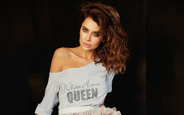Download wallpapers Natalia Siwiec, 4k, beauty, supermodels, fashion models, brunette
