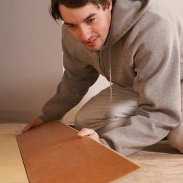 Once your wood laminate floors are installed, clean them carefully.