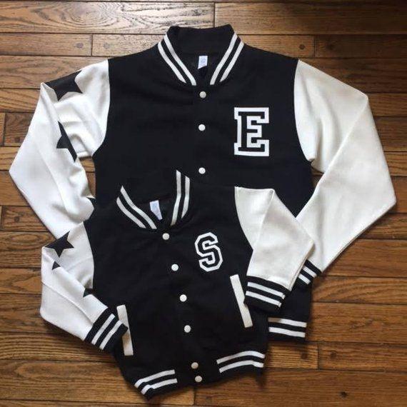 girls streetwear inspired varsity initial custom personalised kidsbaby name dress