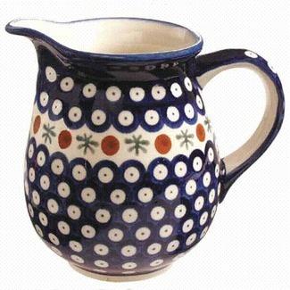 Euroquest Imports Polish Pottery 28 oz Pitcher