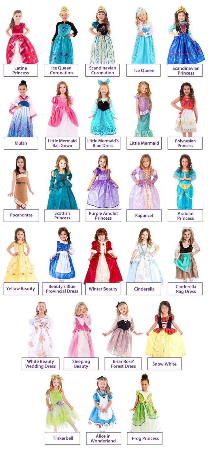 Disney Princesses Replica Ballgown Dress Up Set Disney Princess Dress Up Disney Princess Outfits Little Girl Princess Dresses