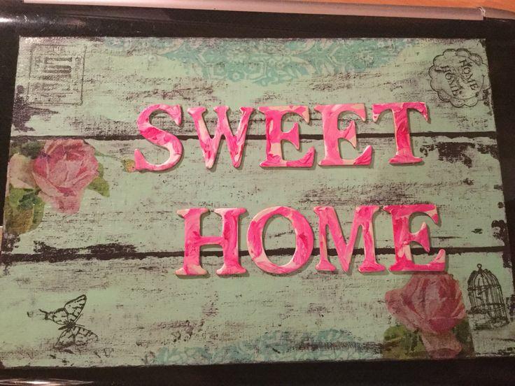 Cuadrito sweet home