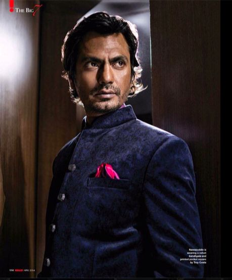 Nawazzuddin Siddiqui in printed bandgala jacket for Hello! india