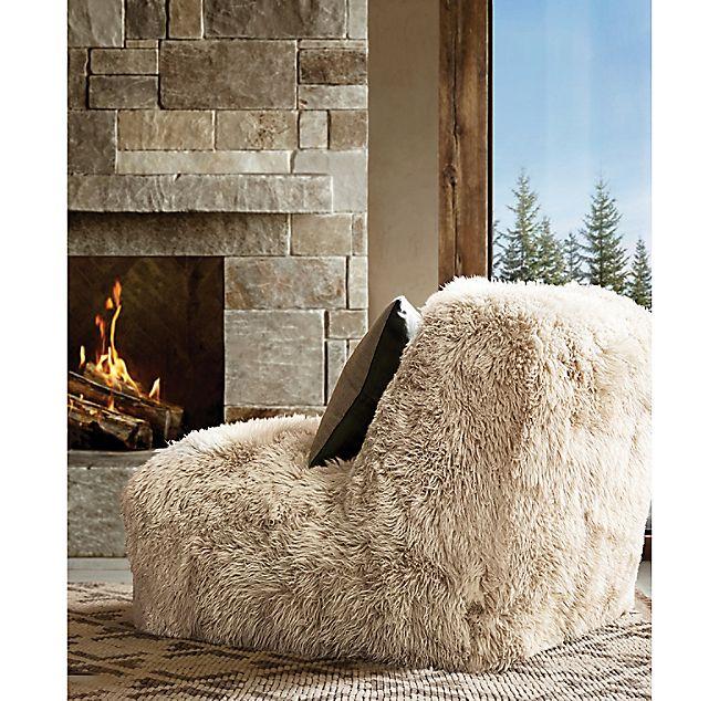 Yeti Sheepskin Chair Sheepskin Chair Ski House Chair