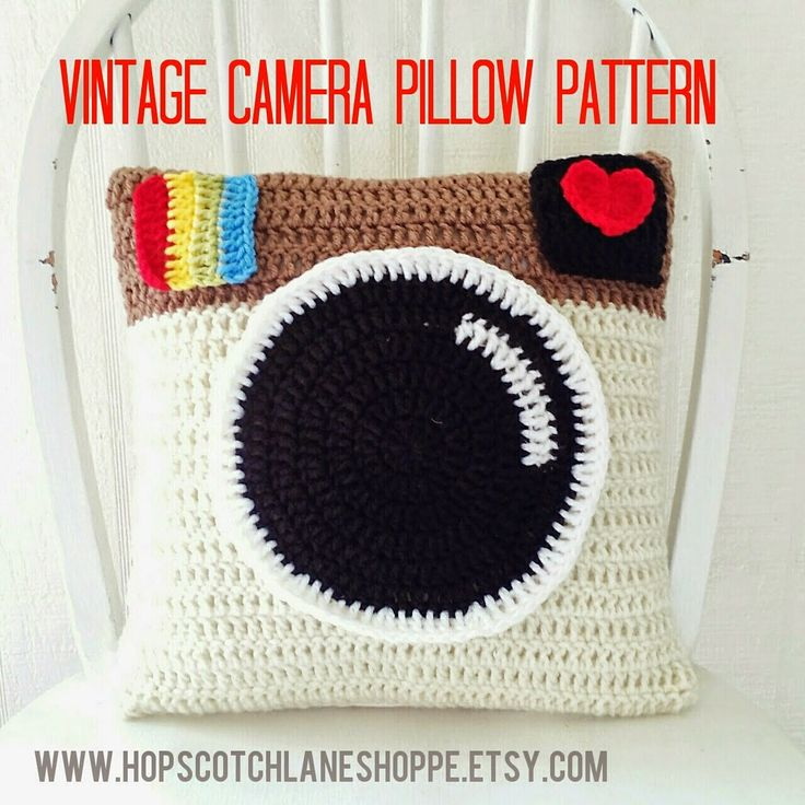 Vintage Camera Pillow Pattern