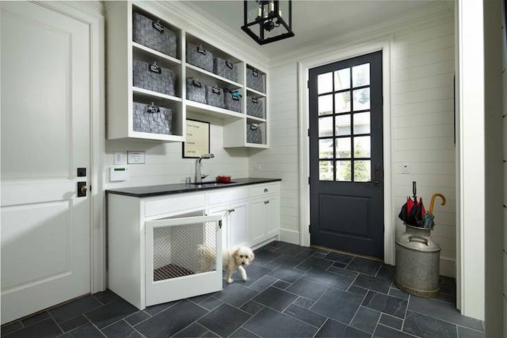 Built In Dog Bed, Transitional, laundry room, Murphy & Co. Design