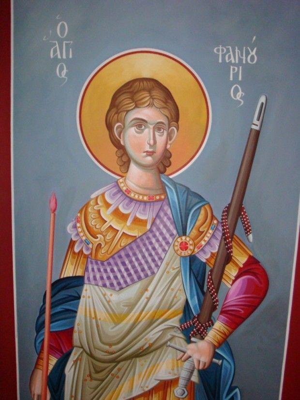 St Phanourios icon.  Άγιος Φανούριος ο Νεοφανής, ο Μεγαλομάρτυρας - Σταύρος Τωνας© (ctonas-agiografies.blogspot.com)