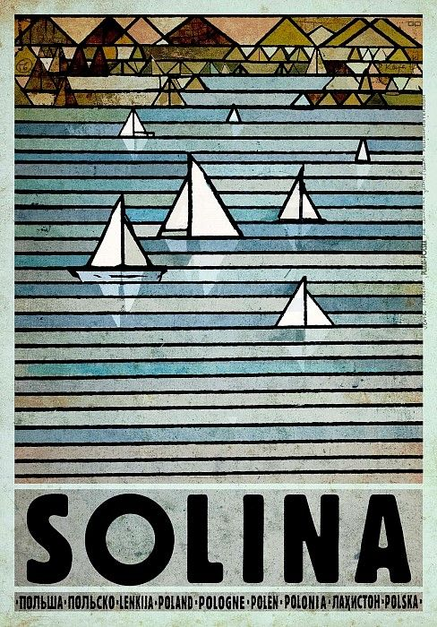 Solina, Polish Promotion Poster by Ryszard Kaja