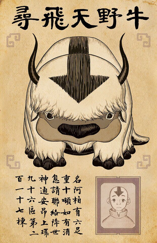 Avatar the Last Airbender: missing appa poster