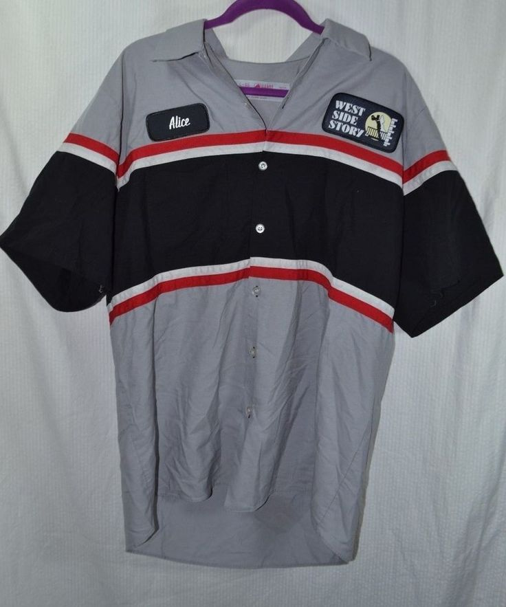 #Red #Cap #Kap #Work #Uniform #Shirt Large #Alice #WestSideStory #Mechanic #Rockabilly for sale in my ebay store