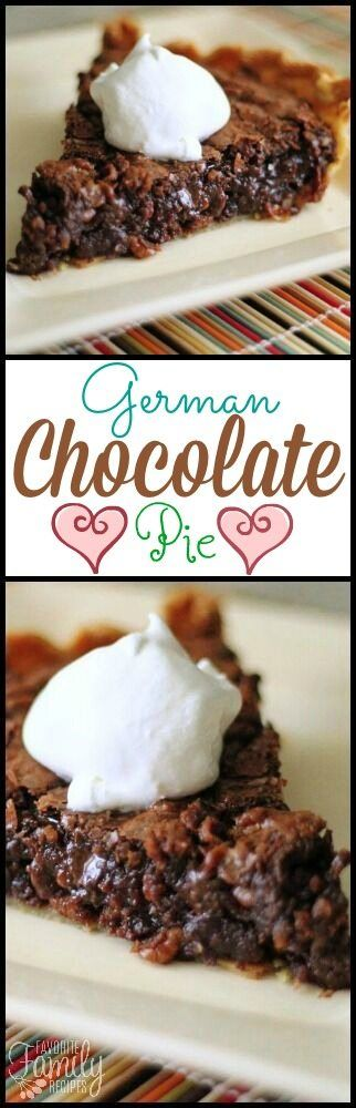 This German Chocolate Pie recipe idea comes straight from Amish country. The rich, gooey, chocolate filling it to die for! #germanchocolatepie #pierecipe via @favfamilyrecipz