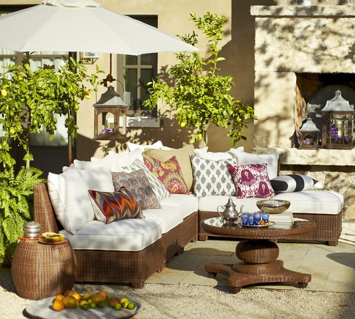 Nice outdoor seating
