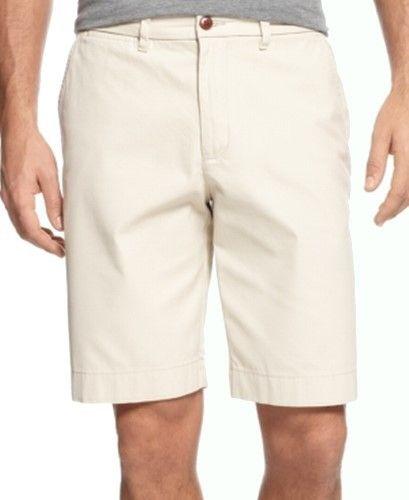 Tommy Hilfiger Beige Mens Size 31 Classic Fit Sand-Khaki Shorts