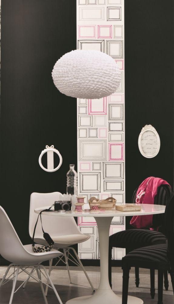 caselio 39 love 39 tapete bilderrahmen schwarz grau pink 50x280cm bei fantasyroom online kaufen. Black Bedroom Furniture Sets. Home Design Ideas