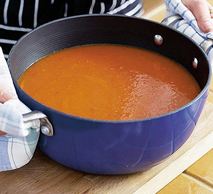 To make the tastiest tomato soup you'll ever experience wait until the tomatoes are at their most ripe and juicy, around September