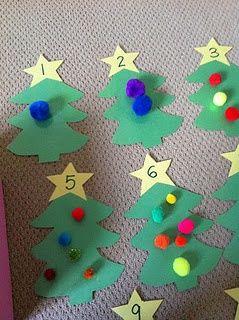Min blogg om allt mellan himmel och jord: Matematik med jul och vinter tema till förskolebarn