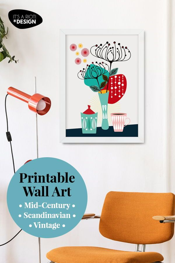Vintage Up Your Home With This Printable Retro Kitchen Wall Art Mid Century Modern Decor Perfect For Downloading In 2020 Kitchen Wall Art Printable Wall Art Wall Art