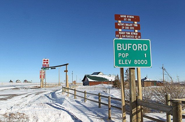 Jarod and I would like to buy Buford...wish we had the cash! LOL    Population: ZERO. Smallest town in the U.S goes under the hammer... as the last resident finally leaves http://www.dailymail.co.uk/news/article-2114723/Americas-smallest-town-Buford-Wyoming-goes-hammer.html