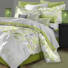 Simple Beauty  http://www.home-decorating-co.com/karin-maki-lime-green-zebra-bedding.html