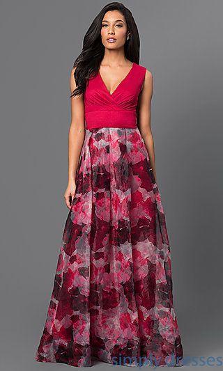 Sleeveless V-Neck Floor Length Dress