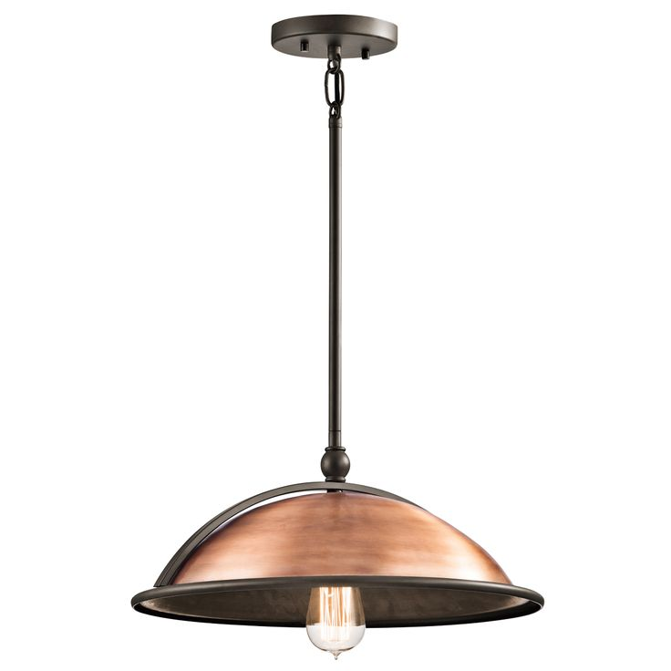 Sepia 1 Light Pendant - Antique Copper