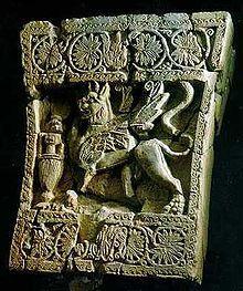 Griffon du palais royal de Shabwa, l'ancienne capitale du royaume de Hadramaout. Aden, le Musée national