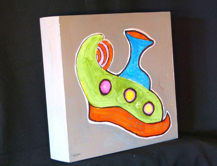 """Aladdin's Shoe"", Acrylics, 10"" x 10"", $60.00"