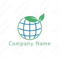 ロゴマーク「希望の芽」[地球/環境/希望](医療、環境、エコ、リサイクル、グローバル)