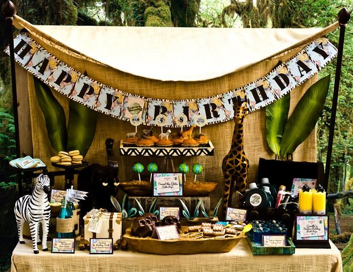 Disney world 39 s jungle safari inspired party planning ideas for African party decoration
