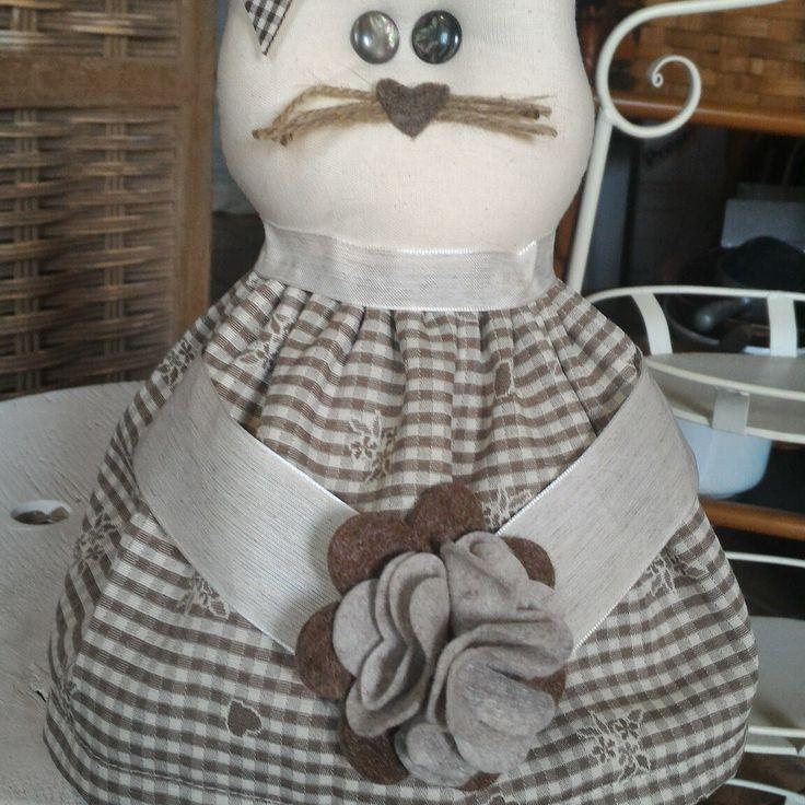 Cucito creativo gatto ferma porta hobbycreando pinterest for 4 4422 c