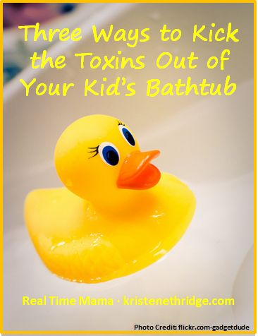 Bathtime can be one of the best times of the day...but the chlorine in our water system can also cause problems. Find out three easy ways to neutralize chlorine by-products in the water and why you should take steps to make bath time better at http://kristenethridge.com/2013/10/03/three-ways-to-kick-the-toxins-out-of-your-kids-bathtub/