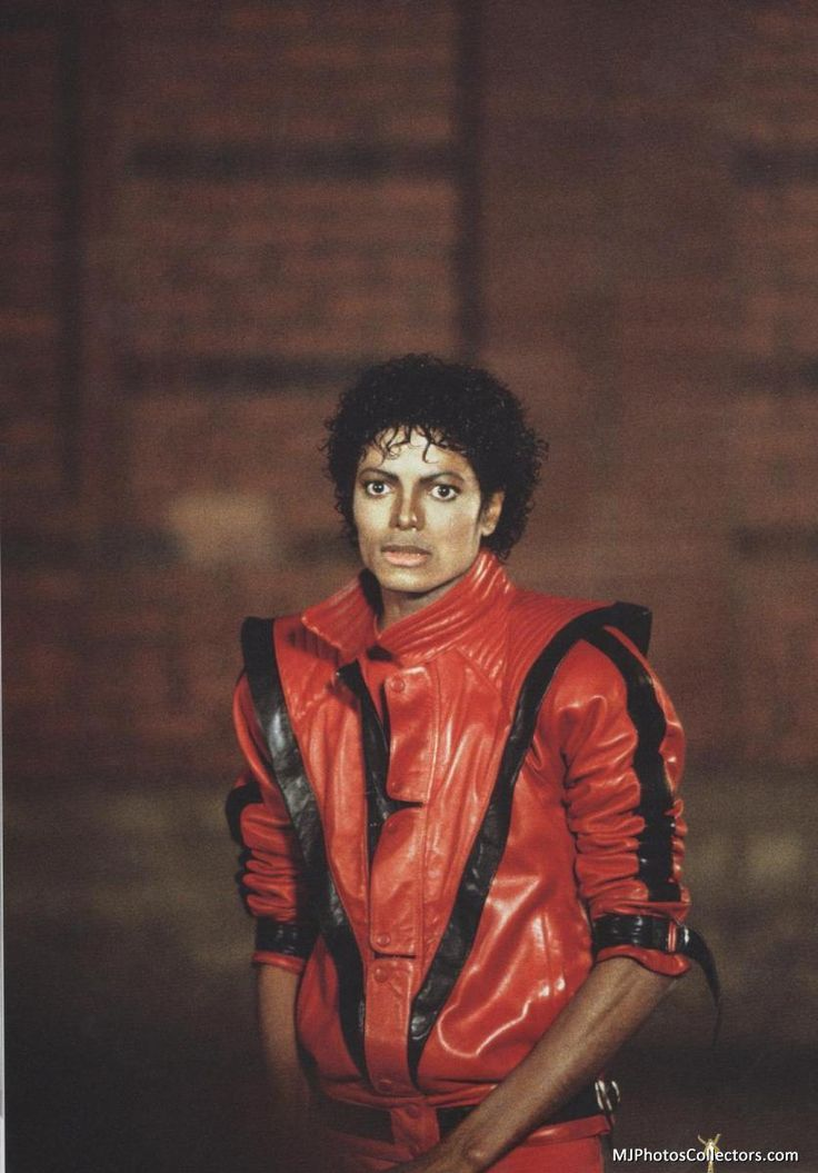 Mens Michael jackson thriller leather jacket!