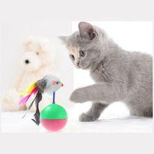 Pet cat toys mimi preferito mouse tumbler giocattoli di plastica palle per i gatti(China (Mainland))