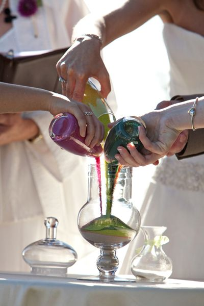 A Sand Ritual Is Symbol Of Two Families Joining Together As One On The Wedding