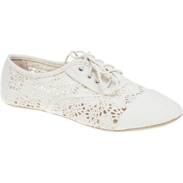 Crochet Oxford Flats found on Polyvore