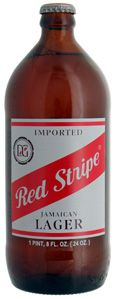Red Stripe Lager Beer.... ey mon it's the best beer in the tropics