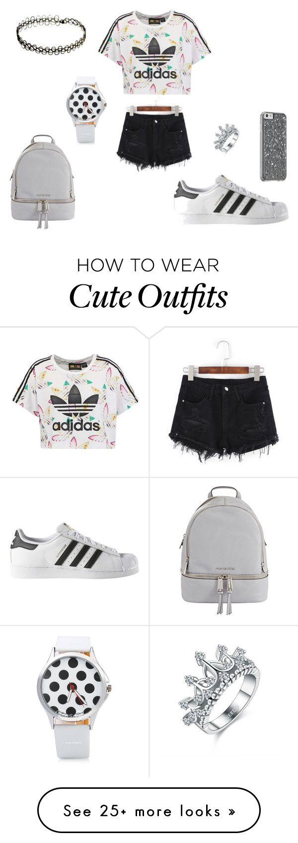 """Lujayne's outfit"" by seena-alrakawi on Polyvore featuring adidas Originals, adidas, MICHAEL Michael Kors and evillujayne"