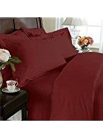 Hotel Luxury Bed Sheets Set-ON SALE TODAY! On Amazon-Top Quality Soft Bedding 1800 Series Platinum Collection-100%!Deep Pocket,Wrinkle & Fade Resistant (CalKing,Burgundy)