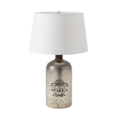 Dimond Lighting 169-001 Antique Bottle Table Lamp In Antique Mercury Glass