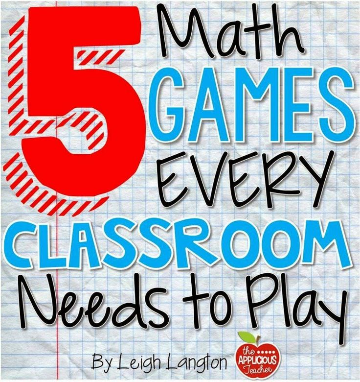 5 Math Games Every Classroom Needs to Play. Seriously easy, fun, and no prep! Must read for new and veteran teachers alike!
