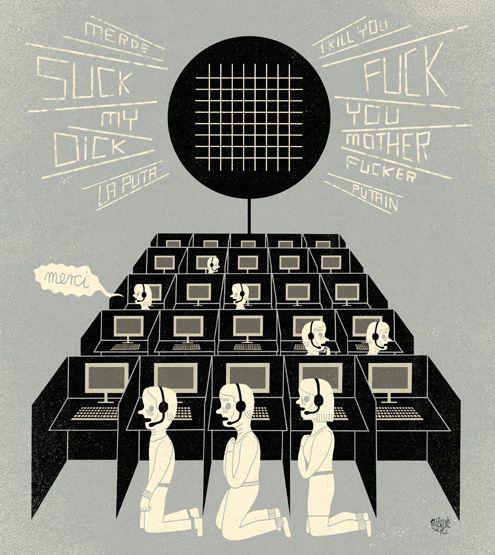 patryk mogilnicki | illustration. call center (wprost).